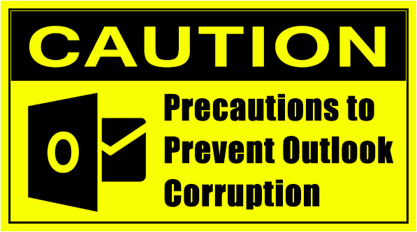 prevent Outlook corruption