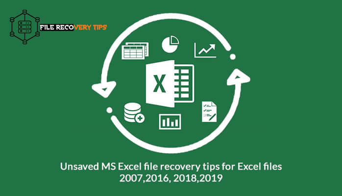 This Image explains the manual methods to do Unsaved Excel File Recovery in Excel 2007,2016,2018,2019